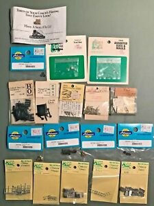 HO TRAIN ACCESSORIES MIXED LOT HO SCALE WALKER ATHEARN EVERGREEN HILL & MORE