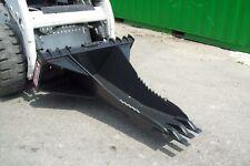 Skid Steer Stump Bucket 56 Long Hd Replaceable Teeth12 Front Widthmade Usa