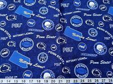 Penn State Nittany Lion Logo Mascot Psu Deep Blue Cotton Fabric 1/4 yard