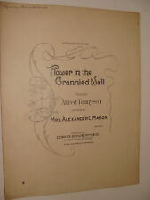 1903 Flower in the Grannied Wall Alfred Tennyson poem, music by Mason RARE piano