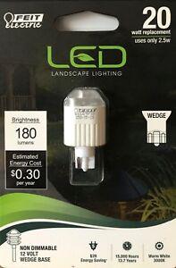 FEIT Electric 2.5-Watt / 12-Volt / Wedge Base Landscape LED / 180 Lumens - NEW