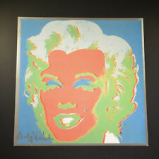 """Andy Warhol, """"Marilyn Monroe"""", from a 1982 VIP Catalog.  Hand Signed, w/ COA."""
