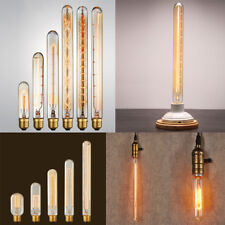 Vintage Retro Edison E27/B22 40W Filament Light Bulb T10/T45/T300 Tube Lamp 220V