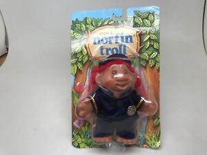 NORFIN TROLL--(ADOPT A)-PATROLMAN-RED HAIR--1986-SEALED ON CARD