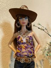 Handmade Jewelry for Barbie - Coins Cowboy Hat & Belt, Necklace and Earrings