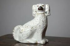 More details for staffordshire pottery king charles spaniel, earthenware wally dog