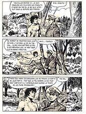 TAROU CONTRE LES SOLDATS JAPONAIS (BOB DAN) PLANCHE ORIGINALE AREDIT  PAGE 28