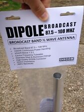FM BROADCAST BAND 88-108 MHZ DIPOLE ANTENNA KIT  87.5-108 FM 1000 WATT AERIAL