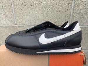 Vintage 2001 Nike Cortez Leather Sz. 13 Black/White 2109 00 Classic NIB