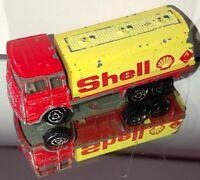 Vintage 1970's Majorette Saviem Petrol Shell Tanker  1/100 Scale France Loose *