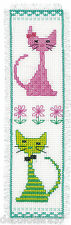 Vervaco   Broderie Point de Croix Compté   Marque-Page Chats colorés PN-0148532