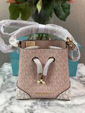 NWT Michael Kors Vanilla & Ballet XS Mercer Convertible Crossbody Bucket Bag
