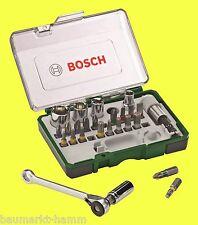 BOSCH Bit et steckschlüssel-set avec cliquet et porte-outil Promoline 27 pièces