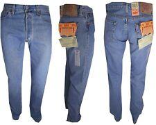 levis 501 Jeans Levi's uomo W27 28 29 30 31 32 denim Regular Blu Stright Celeste