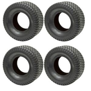 4 New Tires 15 6.00 6 Wanda Turf Mower 4 ply 15x6.00x6 15x6.00-6 SIL