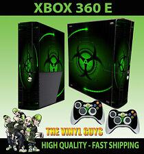 Xbox 360 E Verde Bio Hazard peligro Estilo Sticker Skin & 2 Pad Skin