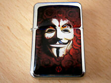 ANONYMOUS LEGION VENDETTA V ROSES BLOOD FLOWERS STAR LIGHTER & ZIPPO FLINTS