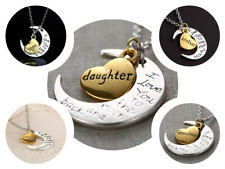 TO THE MOON AND BACK HEART PENDANT NECKLACE UNCLE MOM DAUGHTER BROTHER GRANDMA