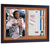 Steve McQueen The Man & Le Mans Signed Autographed Photo Print Poster Framed