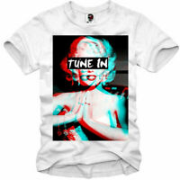 E1SYNDICATE T-SHIRT MARILYN MONROE TUNE IN DROP OUT LSD MDMA TRIP BLOTTER 1162
