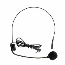 3.5mm Headset Microphone Condenser MIC for Voice Amplifier Tour guide Speaker