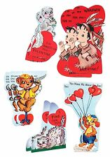 Scrapbooking Cards- 10 Vintage Valentines from the 1950s - 2 Each of 5 Different