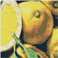 Handmade Refreshing Lemons DIGITAL Counted Cross-Stitch Pattern Needlepoint