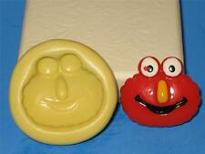 Elmo Silicone Push Mold Food Safe Silicone A186 Cake Topper Chocolate Resin Clay