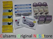 5 New Super Nintendo Snes Controllers, 5 New Ac Adapters & 5 New Av Cables Lot