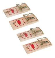Reusable Wooden Mouse Traps Bait Mice Vermin Rodent Pest Control Mousetraps Trap