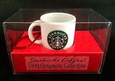 Starbucks Siren Christmas Holiday Ornament 1999 Collection Mini Coffee Cup Mug