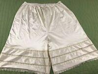 Vintage Sears Lace Trim Long Leg Panty Size 3X Beige