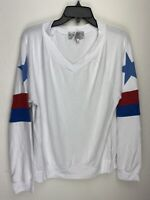 Wildfox Couture Womens Stars and Stripes Pullover Sweater White