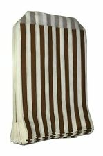 More details for 100 brown striped candy paper bags sweet 7