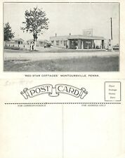 TEXACO GAS STATION MONTOURSVILLE PA RED STAR COTTAGES VINTAGE POSTCARD gasoline