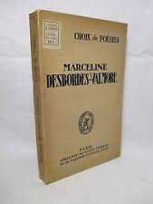 DESBORDES VALMORE Marceline - Choix de poesies - Librairie Alphonse Lemerre 1928