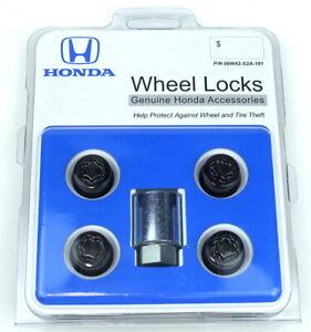 New OEM 08W42-S2A-101 Genuine Honda Wheel Locks Black Locking Lug Nut Set