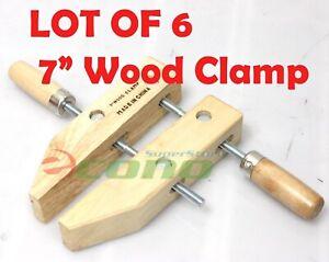 """Lot SIX(6)  7"""" wood working clamps tools wood handscrew """"7"""""""