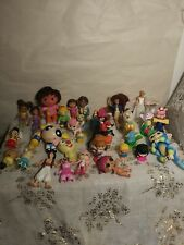 Lot of Disney, Mattel, And Other Small Toys Some Vintage / Various Characters