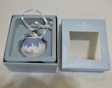 Wedgwood Jasperware Christmas Sleigh Ride 2010 Round Ball Ornament w/ Box