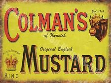 Vintage Food, 94, Colman's English Mustard, Butcher Shop, Novelty Fridge Magnet
