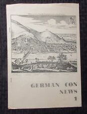 1970 GERMAN CON NEWS #1 FN- 5.5 Science Fiction SCI-FI Fanzine 8.5x11 14pgs