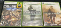 Xbox 360 Call Of Duty Lot Modern Warfare COD 3 modern Warfare 2 CIB W/ Manuals