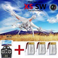3 Batterie X5SW Syma Wifi FPV 2.4G Viererkabel 4CH RC Kamera-Drohne mit Kamera R