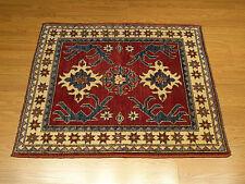 3.2 x 3.8 Handmade Afghan Kazak Vegetable Dye Hand Spun Fine Wool Rug