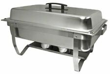 Stainless Steel Easy Store Mirror Polish Chafer Chafing Dish Folding Stand 8Qt