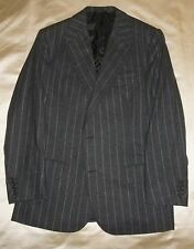 Bespoke FALLAN & HARVEY SAVILE ROW WoolCashmere Flannel Chalk Stripe Suit 40 41