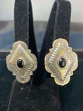 Vintage Native American Sterling Silver Earrings by Carolyn Pollack