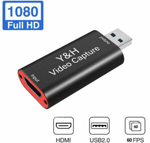 HDMI to USB3.0 USB2.0 Video Capture Card 1080P 60fps HD Record for PS4 Xbox One