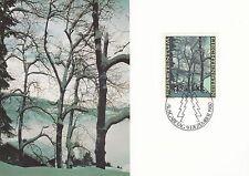 Liechtenstein Maxi Card Nr. 760 mit FDC-Stempel - Waldrand im Winter